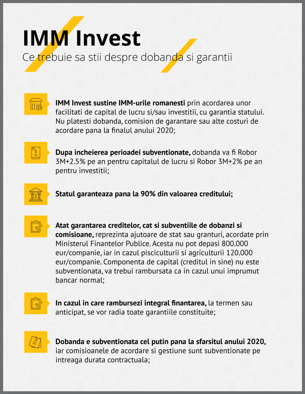 Infografic IMM Invest Ce trebuie sa stii despre dobanda si garantii