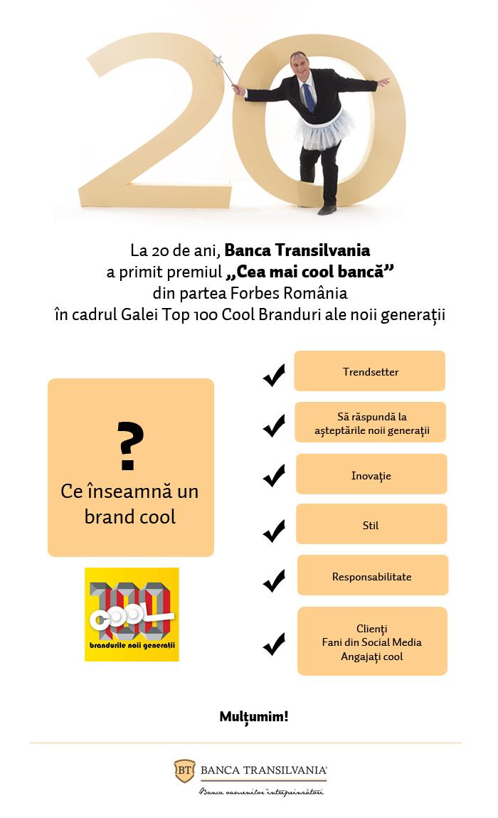 Infografic: BT cea mai cool banca din Romania