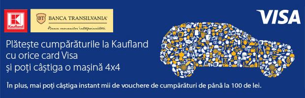 Cumparaturile cu cardurile VISA de la BT in magazinele Kaufland aduc premii