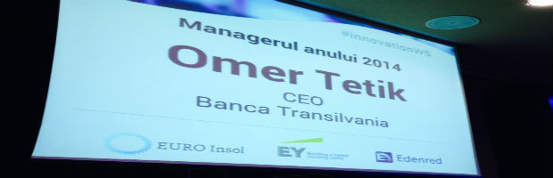 """Omer Tetik, directorul general BT, """"Managerul Anului 2014"""""""