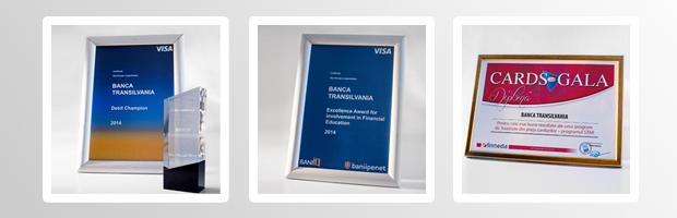 Banca Transilvania, 3 premii pentru activitatea in domeniul cardurilor