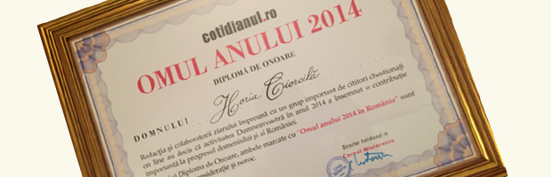 Horia Ciorcila, Presedintele Bancii Transilvania, desemnat Omul Anului 2014