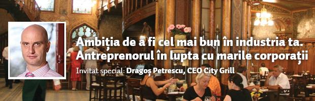 Dragos Petrescu, CEO City Grill, invitat la intalnirea cu studentii din Cluj-Napoca