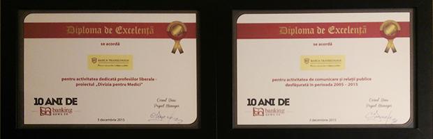 4 premii pentru performanta Bancii Transilvania