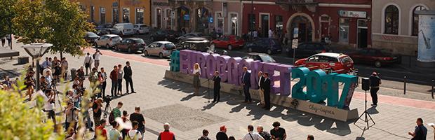 A BT a Román Kosárlabda Szövetség támogatója az #EUROBASKET2017 szimbólum felavatásán, Kolozsváron