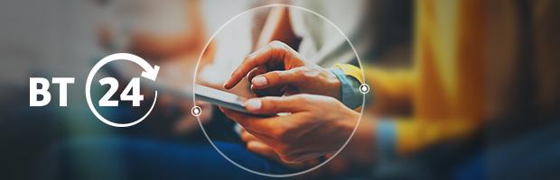 #InfograficBT:  Autentificare cu amprenta si accesarea mai multor conturi fara deconectare pe BT24 Mobile Banking