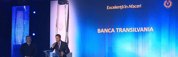 Banca Transilvania, premiu pentru cea mai mare crestere la Bursa, la Gala Topul National al Firmelor 2016