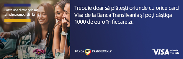 Campanie VISA si Banca Transilvania: premii de 1000 euro/zi