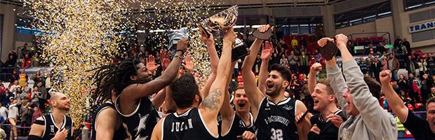 Aplauze BT pentru echipa de baschet U-Banca Transilvania, castigatoarea Cupei Romaniei 2017