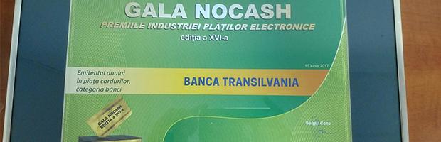 BT- Banca anului in piata cardurilor, emitentul cu cele mai active carduri de credit, iar BT Visa Electron cardul de cumparaturi al anului la Gala NOCASH
