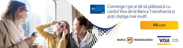 Cumparaturile cu cardul Visa aduc premii in bani