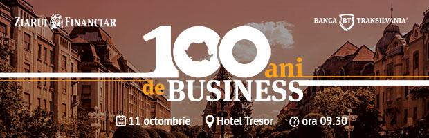 Evenimentul Romania, 100 de ani de Business, initiativa BT si a Ziarului Financiar, organizat pentru antreprenorii din Oradea