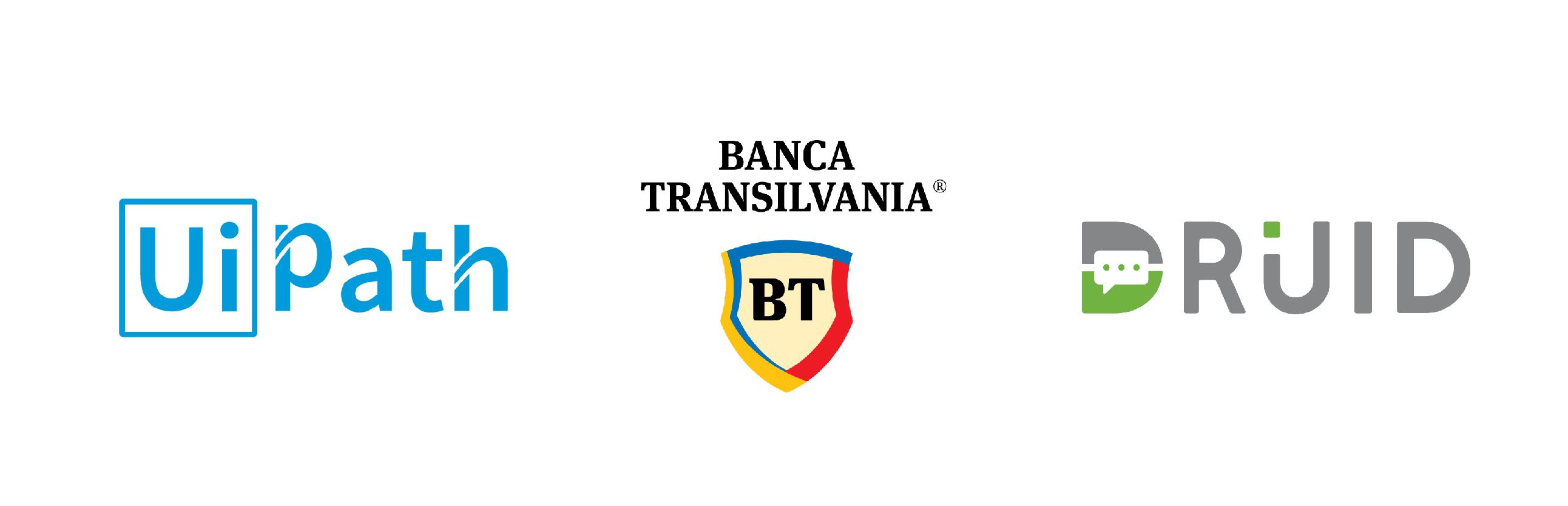 Trei companii din Romania, parteneriat pentru inovatie: Banca Transilvania, UiPath si Druid