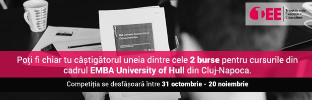 Doua burse, fiecare a cate 15.000 de euro, la EMBA University of Hull