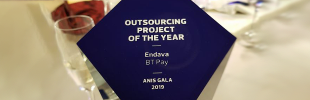 Premiul Software Outsourcing Project of the Year pentru aplicatia BT Pay