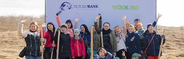 Voluntariat pentru plantarea Padurii Victoriabank