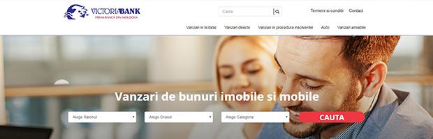 Premiera in Republica Moldova: Victoriabank lanseaza o platforma cu active de vanzare