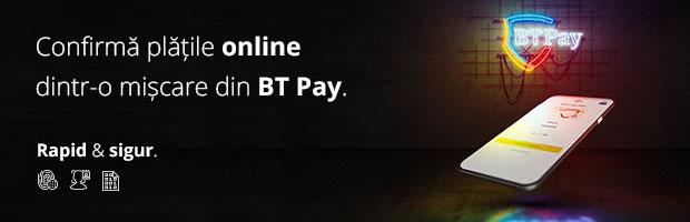 Modalitati noi de autentificare pentru cumparaturi online, prin aplicatia BT Pay