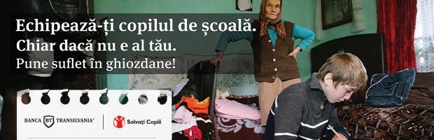 Banca Transilvania si Organizatia Salvati Copiii ajuta copiii sa mearga la scoala
