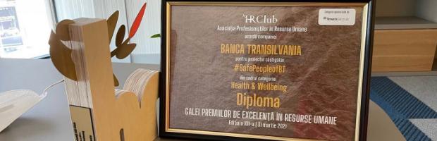 Banca Transilvania, premiata pentru sustinerea angajatilor in contextul pandemiei